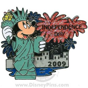 Disney Independence Day Pin - Minnie Mouse 2009