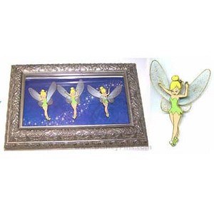 Disney Framed Pin Set - Tinker Bell - An Elegant Pixie