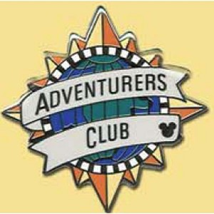 Disney Hidden Mickey Pin - Retro Collection - Adventurers Club Logo