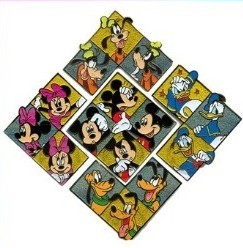 Disney Mystery Machine Pins - Fab 5 Puzzle - Complete Set