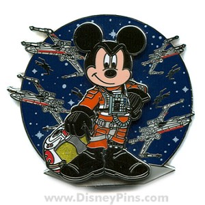 Disney Star Wars Pin - X-wing Fighter Pilot Mickey