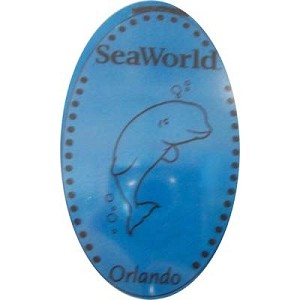 SeaWorld Pressed Penny - Beluga Whale