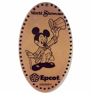 Disney Pressed Penny - Epcot - Uncle Sam Mickey
