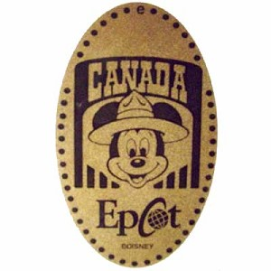 Disney Pressed Penny - Mickey Mouse wearing Mounties hat