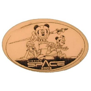 Disney Pressed Penny - Mission Space logo