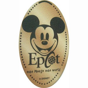 Disney Pressed Penny - Mickey Mouse - one Mouse one world