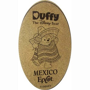 Disney Pressed Penny - Mexico Duffy the Disney Bear