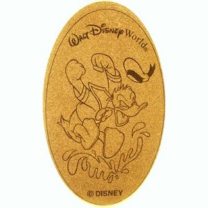 Disney Pressed Penny - Donald Duck Jumping in Water