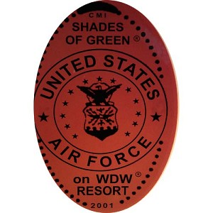 Disney Pressed Penny - United States Air Force logo