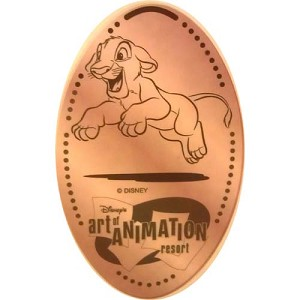 Disney Pressed Penny - Art of Animation Resort - Simba Lion King