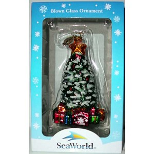 SeaWorld Christmas Ornament - Blown Glass Christmas Tree