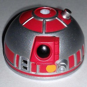 Disney Star Wars Weekends Toy - Create A Droid - R2 Head Silver Red