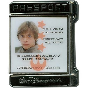 Disney Star Wars Weekends 2011 Pin Passport Jedi Knight Luke Skywalker