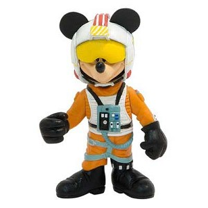 Disney Star Wars Figurine - X-Wing Fighter Pilot Mickey Mouse