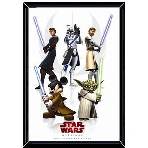 Disney Star Wars Weekends Poster - 2009 Logo Yoda and Clones