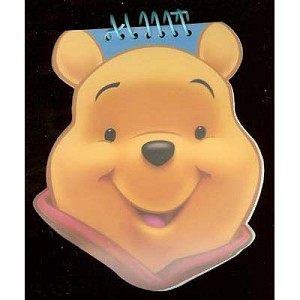 Disney Shaped Autograph Book and Pen - Pooh Bear
