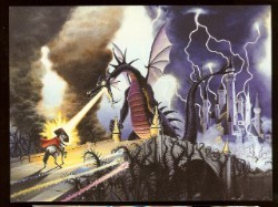 Disney Postcard - The Art of Disney - Maleficent Dragon