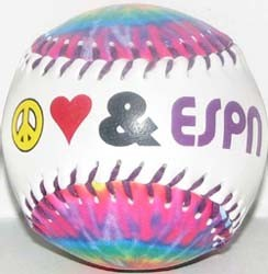 Disney Collectible Small Baseball - Peace love and ESPN