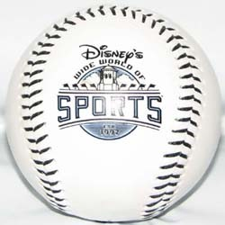 Disney Collectible Softball Baseball - Wide World of Sports – White