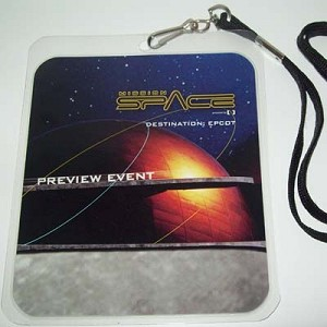 Disney Lanyard Credentials - Mission Space ISTC Opening Day Epcot 2003