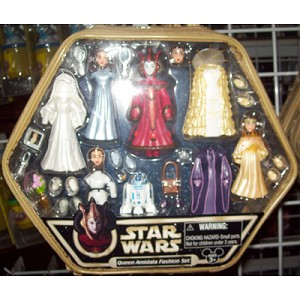 Disney Figurine Set - Star Wars Queen Amidala Fashion Set - Star Tours