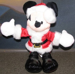 Disney Plush - 2008 - Christmas Holiday - Santa Mickey Mouse