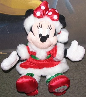 Disney Plush - 2008 - Christmas Holiday - Minnie Mouse