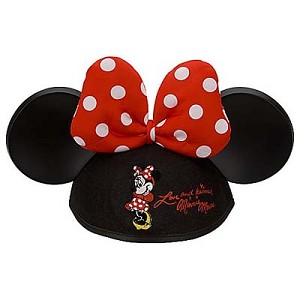 Disney Hat - Ears Hat - Minnie Mouse Polka Dot Bow